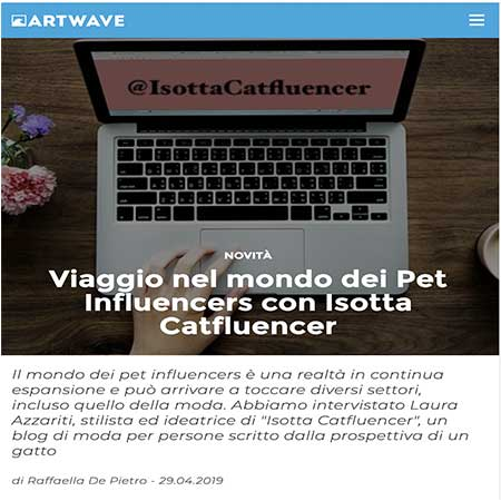 Viaggio nel mondo dei Pet Influencers con Isotta Catfluencer