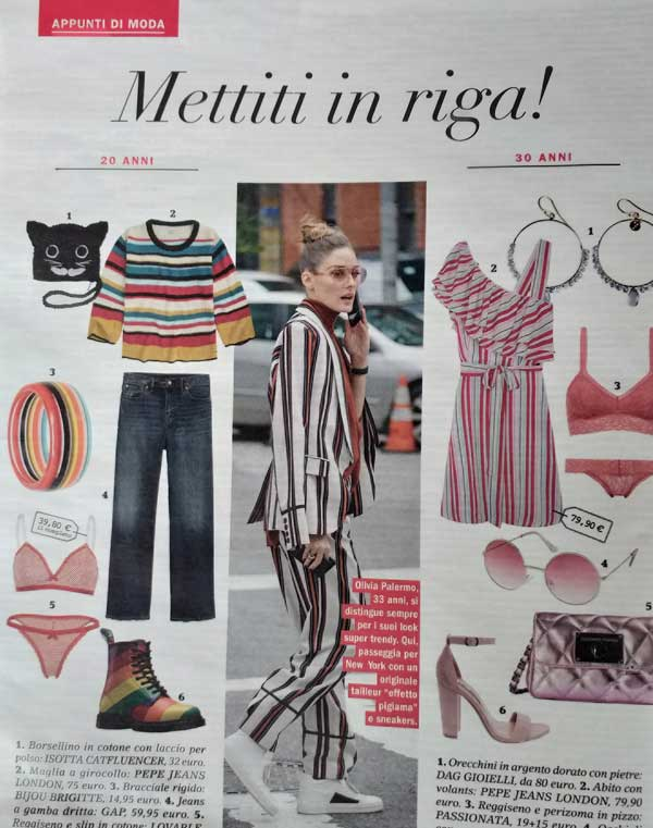 tendenze moda estate 2019 borsellino gatto e righe isotta catfluencer