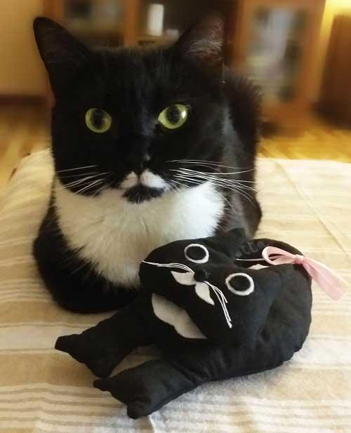 pupazzo gatto - accessori a forma di gatto - Isotta Catfluencer